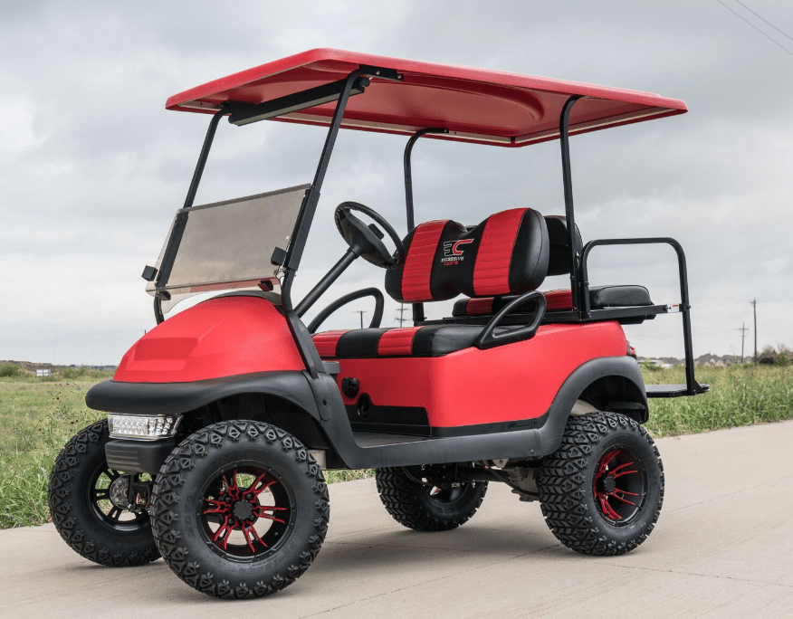 Bright Red KEVLAR Custom Club Car