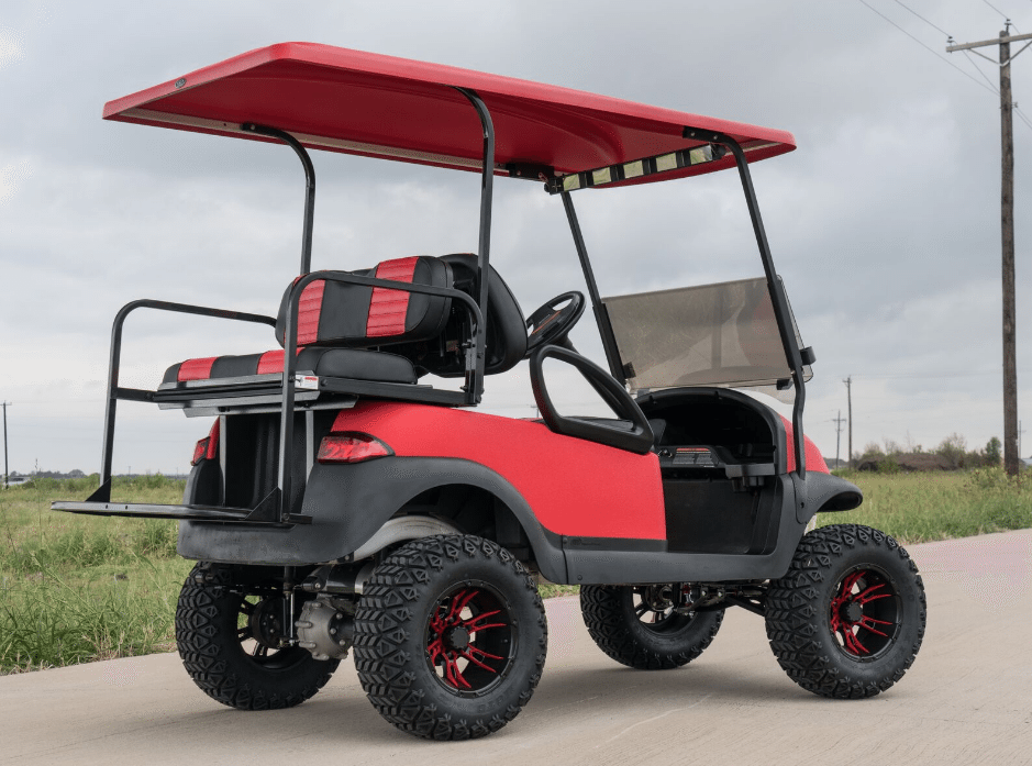 Bright Red Kevlar Custom Club Car Now Shipping