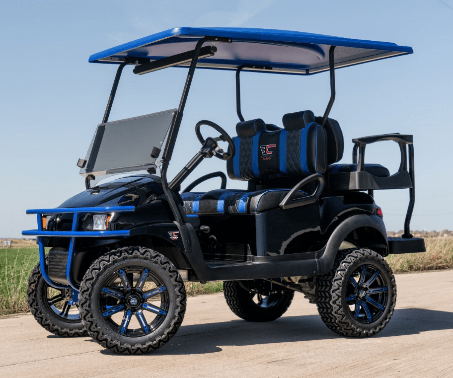 Midnight Blue Golf Cart full