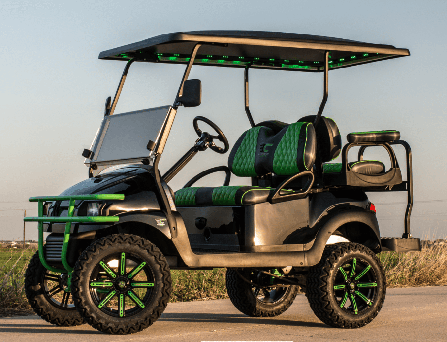 Phantom Lime Green Golf Cart Excessive Carts