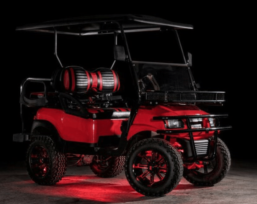 Phantom Red Golf Cart