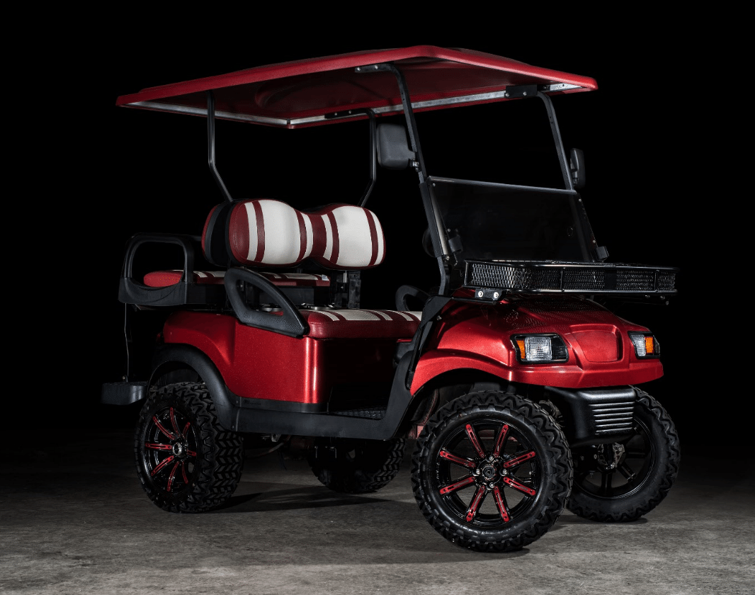 Phantom Burgundy College Edition Golf Cart