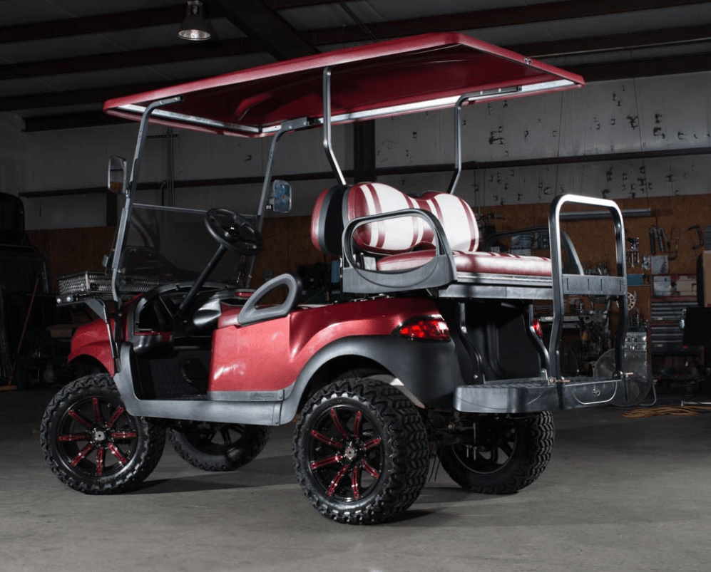 Phantom Burgundy College Edition Golf Cart full