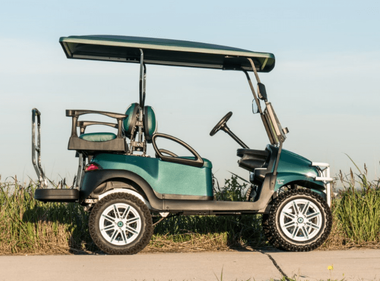 Green Custom Golf Cart full