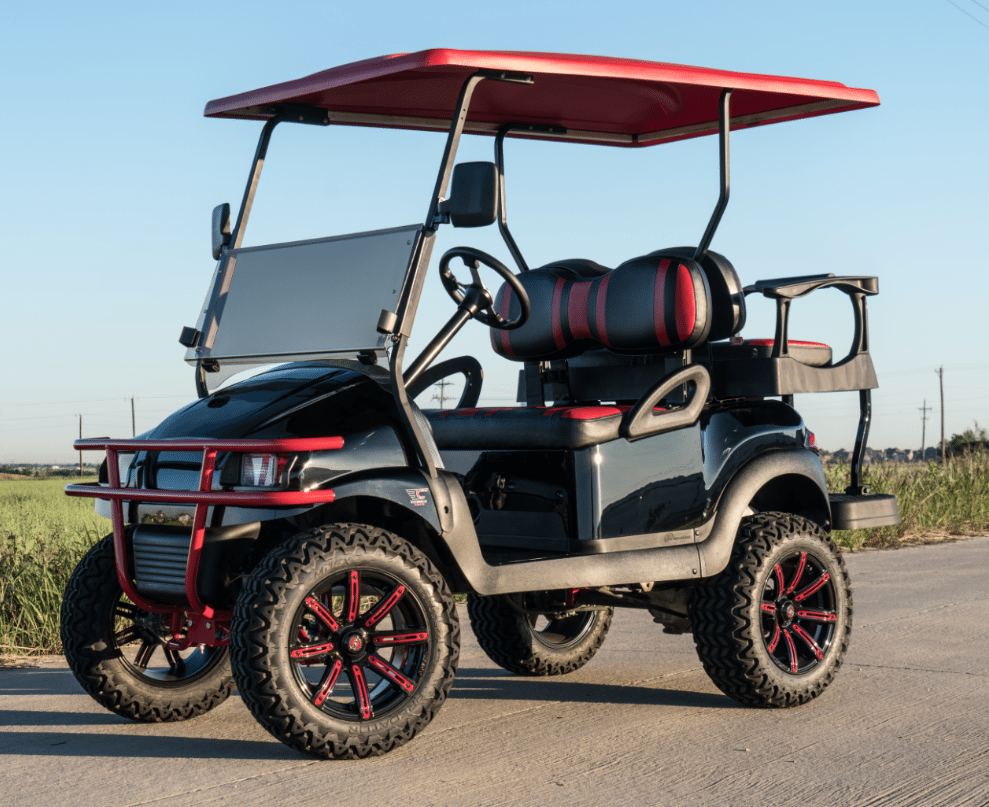 Phantom Black and Red Golf Cart