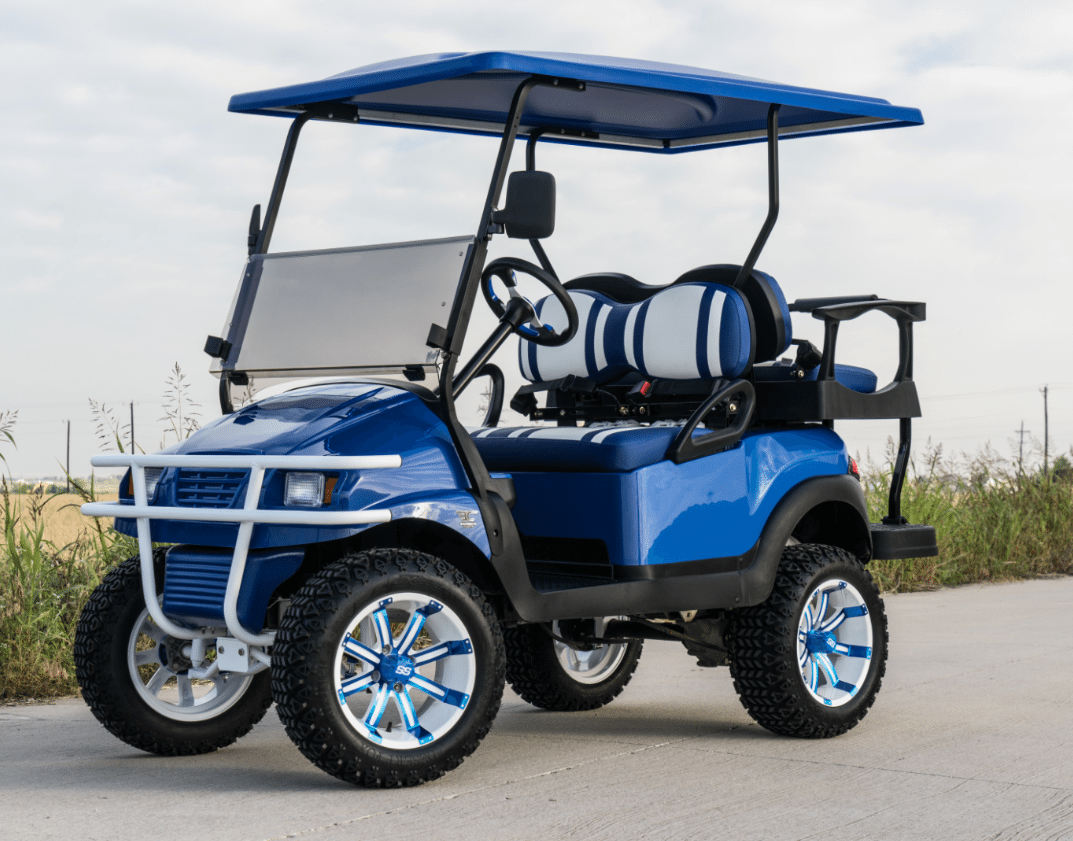 Midnight Blue Golf Cart