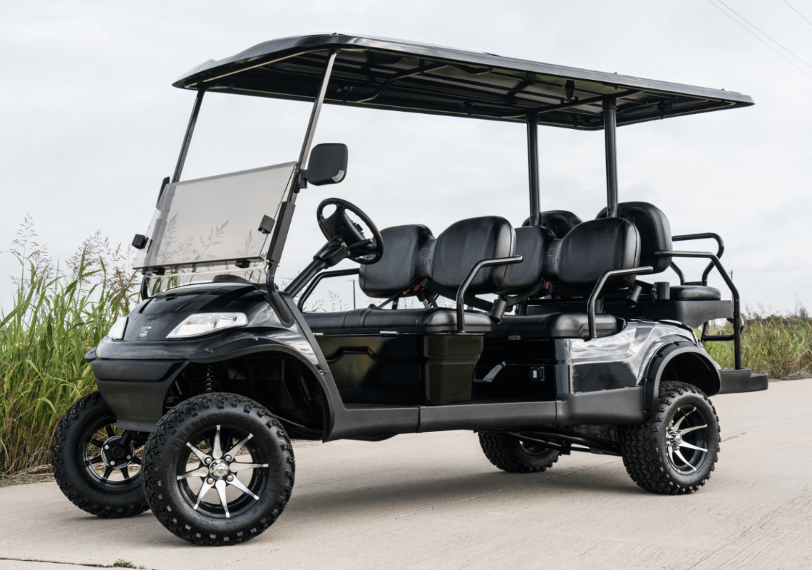 Advanced EV Black 6 Stretch Golf Cart