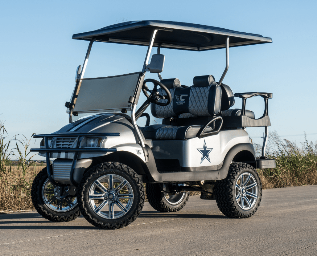 Dallas Cowboys Golf Cart | Be Excessive! Excessive Carts DFW on skateboard cup holder, quad cup holder, convertible cup holder, honda cup holder, vehicle cup holder, home cup holder, wheel cup holder, moped cup holder, horse cup holder, lexus cup holder, ezgo marathon cup holder, hummer cup holder, golf cart cup extension, clip on cup holder, chopper cup holder, cobra cup holder, golf pull carts, van cup holder, golf hand carts, john deere cup holder,