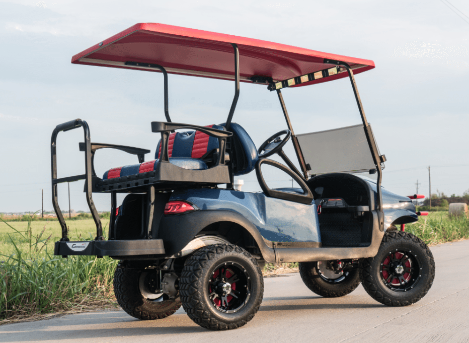 Ole Miss Golf Cart full