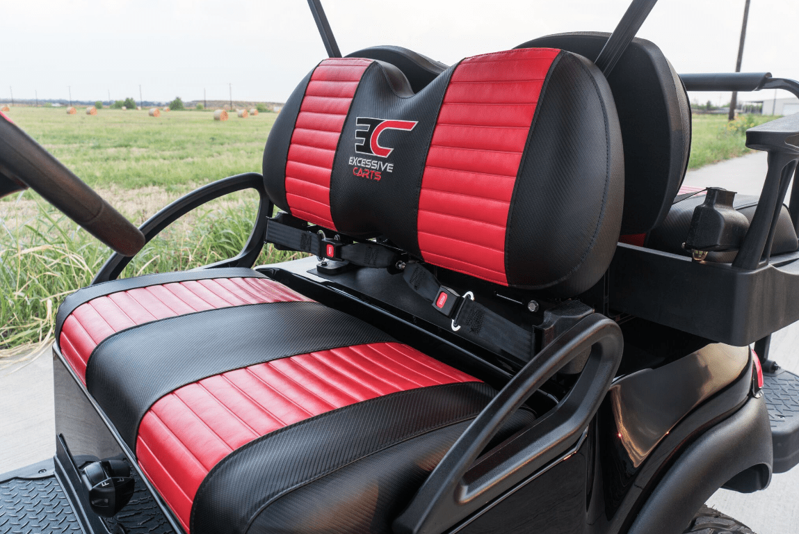 Black Super Fast Red Golf Cart Nationwide Shipping