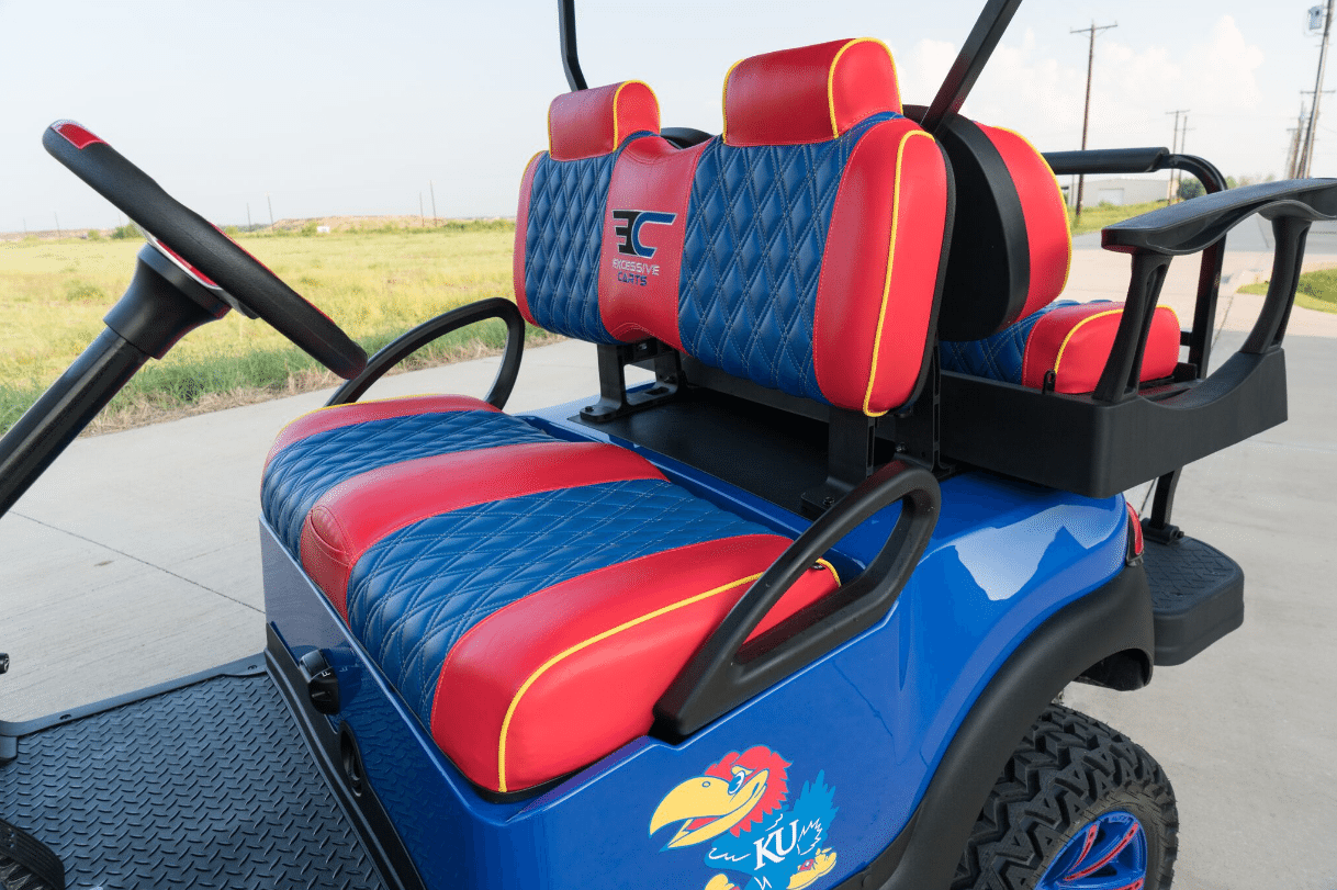 JayHawks Golf Cart full