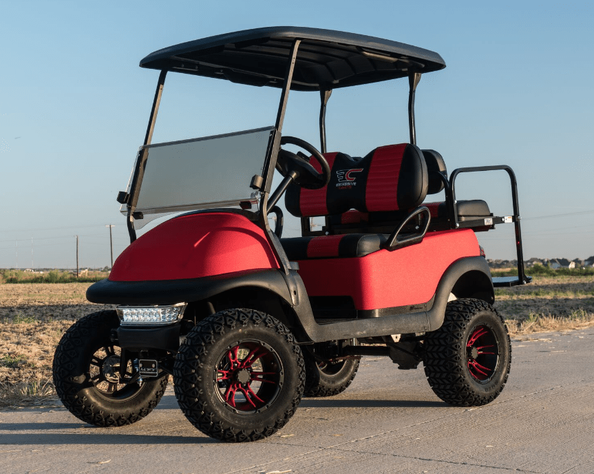 Super Bright RED Kevlar Golf Cart