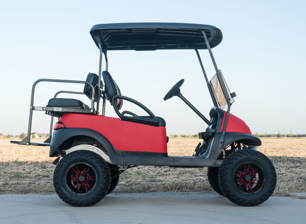Super Bright RED Kevlar Golf Cart full