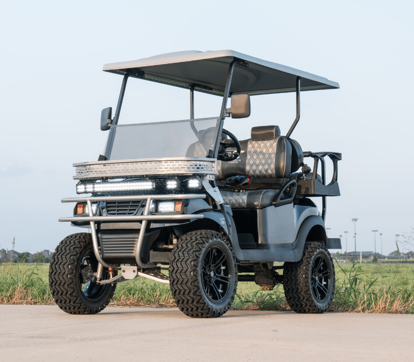 Black and Silver Golf Cart