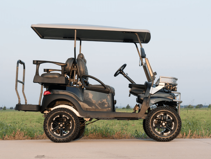 Black and Silver Golf Cart full