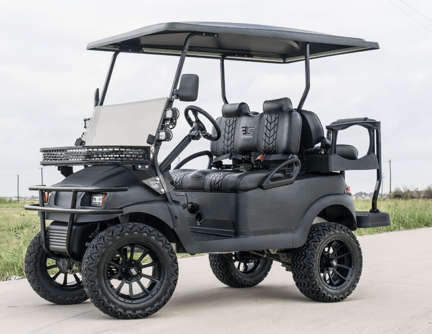 Pitch Black KEVLAR Golf Cart