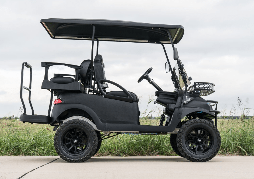 Pitch Black KEVLAR Golf Cart full