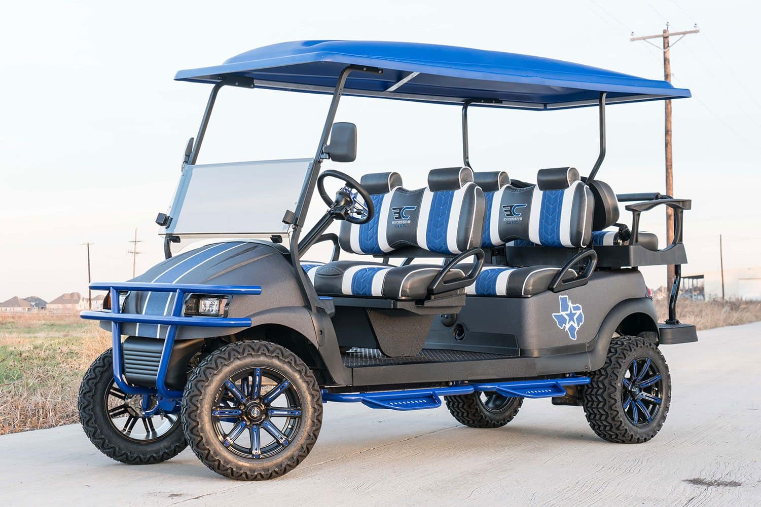 blue lone star golf cart excessive carts