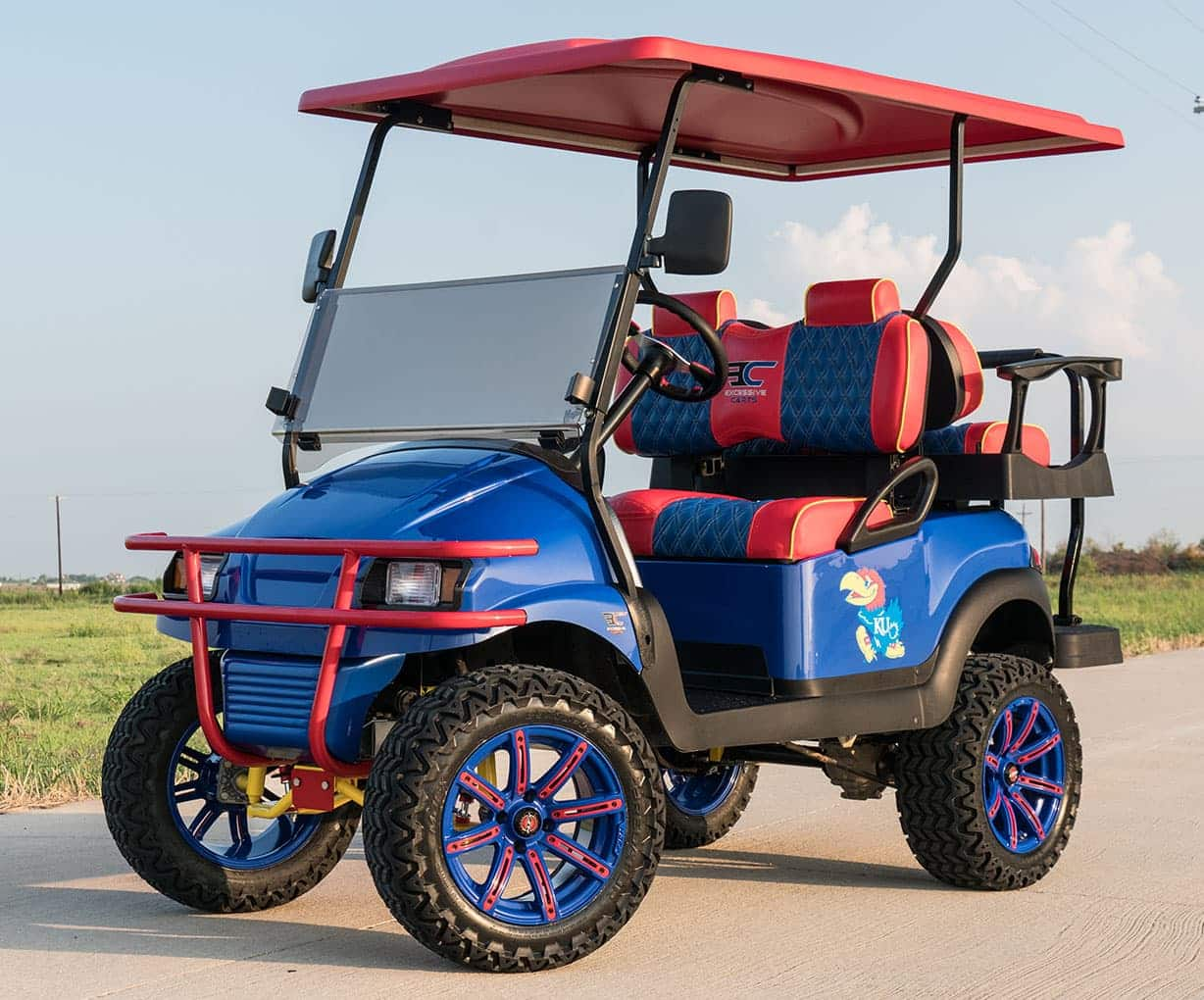kansas jawhawks golf cart excessive carts