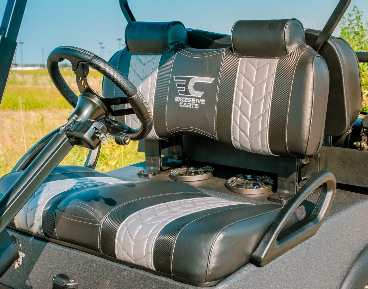 Charcoal Kevlar Tough Golf Cart full