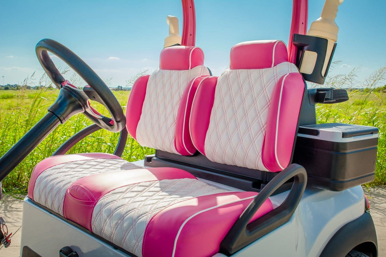 Pink Golf Cart for the Course full