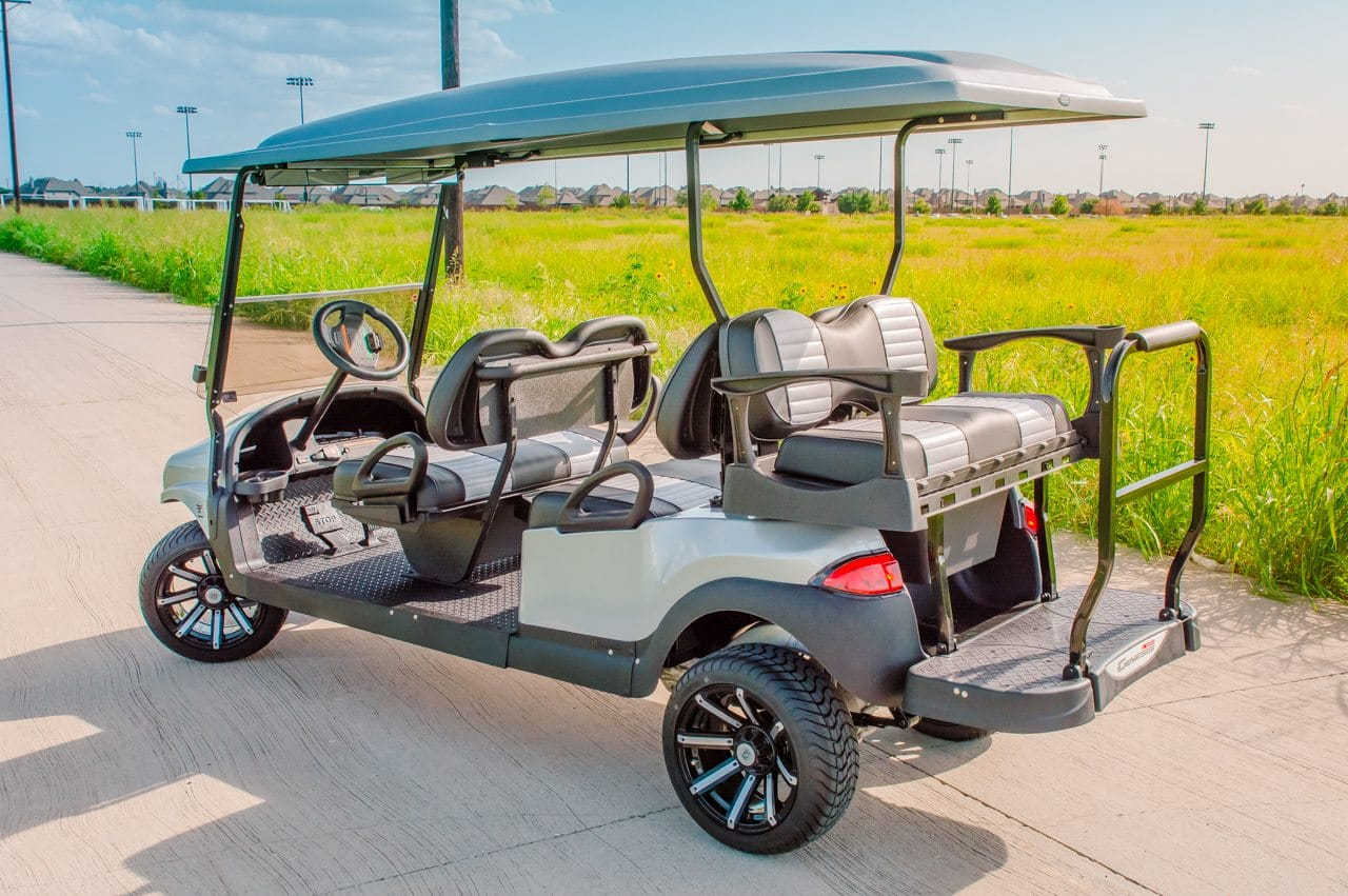 Silver Rhino Six Seater Golf Cart full