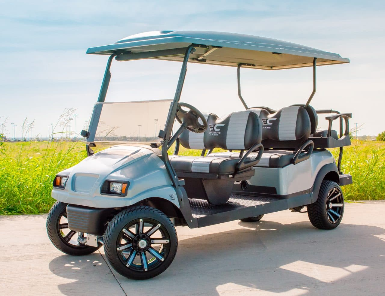 Silver Rhino Six Seater Golf Cart