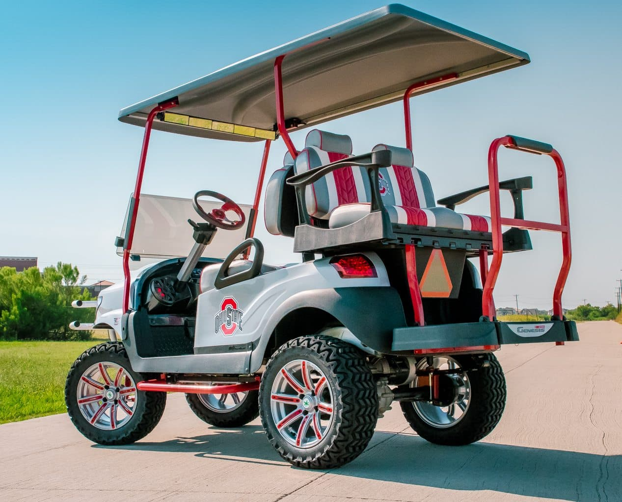 The Ohio State Golf Cart full